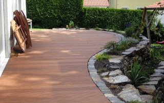 Gartengestaltung Holzterrasse