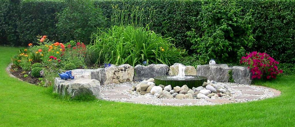 Gartengestaltung Teichbau Wasserspiel