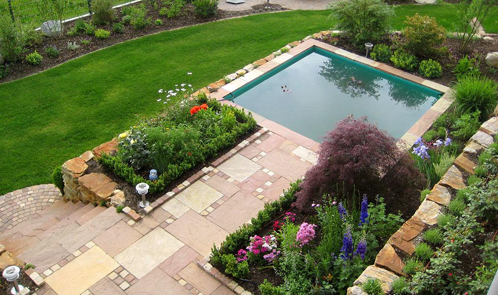 Gartengestaltung Teichbau Terrassenteich